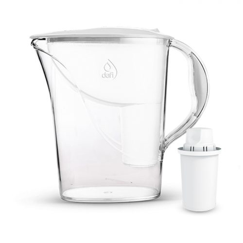 Кана за пречистване на вода с обем на филтриране 1.2 литра. 0% BPA. Ергономична, удобна и лека. За висок универсален филтър + Подарък 1 брой филтър Dafi Classic, ефективно пречистващ до 150 л вода.
