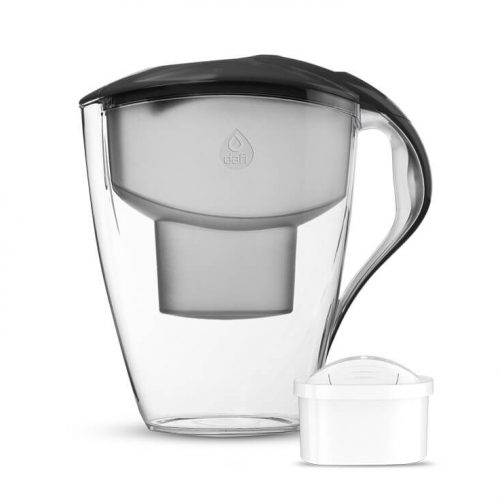 Филтрираща кана за пречистване на вода с обем на филтриране 1.5 литра. С 0% BPA. Ергономична, удобна и лека за ежедневно използване. Предназначена за широк универсален или филтър Dafi Unimax + Подарък 1 брой стерилизиран и бактерицидно обработен филтър, ефективно пречистващ до 200 л вода.