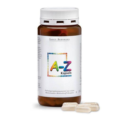 Мултивитамини и минерали A-Z, 150 капсули. Хранителна добавка. 24 жизненоважни съставки 1 път на ден! Опаковка 150 капсули за 150 дни.