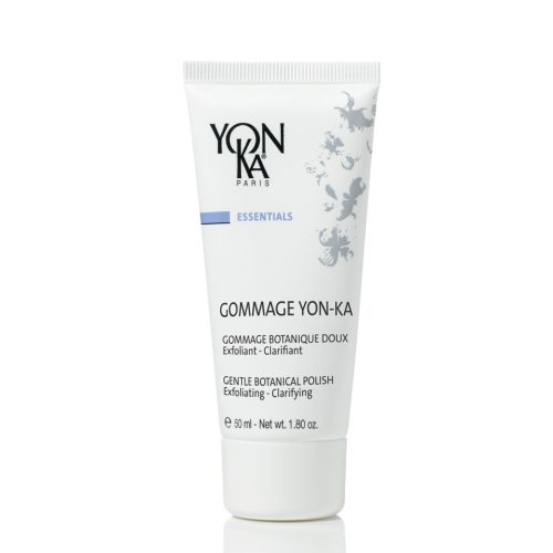 Yon-Ka Gommage | Фин гомаж за нежна ексфолиация и избистряне на тена Ексфолира, хидратира, изсветлява и балансира. Успокоява чувствителната кожа. Отстранява мъртвите клетки, свива и почиства порите, стимулира растежа на нови клетки. Неабразивна фина гел-маска за лице. Съдържа кафяви водорасли, бяла коприва, етерични масла от лайм и борнеол. Опаковка 50 мл. Без парабени.