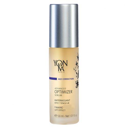 Yon-Ka Advanced Optimizer Serum | Стягащ серум за лице с лифтинг ефект 45+ Подмладява, уплътнява, реструктурира и регенерира кожата. Изглеждате видимо по-млади, с по-стегната и гладка кожа и предефинирани контури на лицето. Съдържа морски колаген и хиалуронова киселина. За зряла кожа възраст 45+. За дневна и нощна грижа. Без парабени.