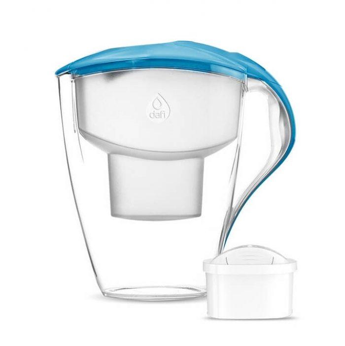 Кана за пречистване на вода Dafi Astra Unimax 1.5+1.5 L Светло синя